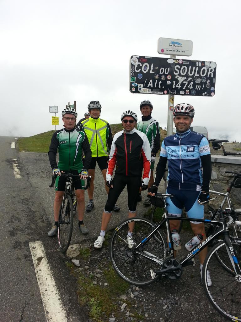 Col du Soulor. Manque Michel, Marcel, Raymond et Bernard sur la photo
