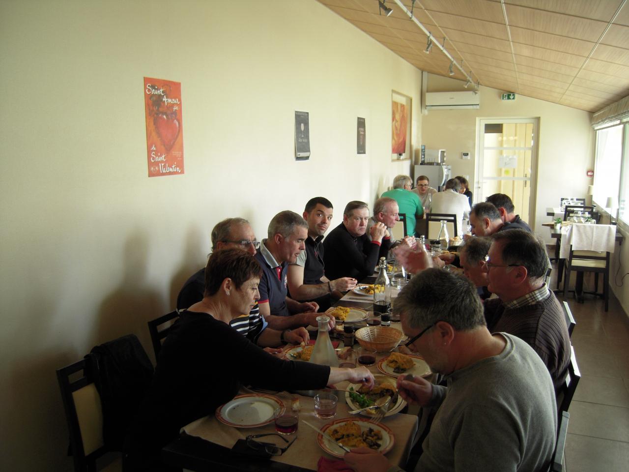 Omelette pascale chez Courbet à Sevignac